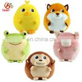Promotional Stuffed Animal Round Shaped Plush Ball Dog Toy