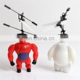 Suspend Automatic Sensor RC Flying baymax Toy flying doll induction aircraft