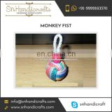 Highly Indulged Stylish Monkey Fist Nautical Rope Keychain Available for Bulk Sale