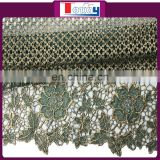 2015 new arrival cotton guipure lace for wedding party