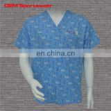 Sublimated shirts Scrub top with pattern