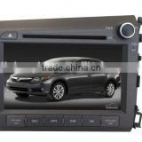"8""Touch Screen DVD Player For HONDA CIVIC 2012 Car DVD GPS CANBUS For HONDA CIVIC 2012 Radio Stereo GPS CANBUS Bluetooth SWC"