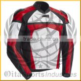 Motorbike Leather Jacket with CE Protectors