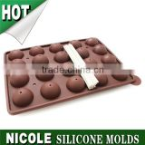 Nicole 20 holes ball shape silicone rubber ice tray lollipop mold B0141
