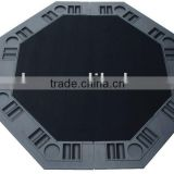 Black Plastic Moulded 2 Folding Poker Table Top