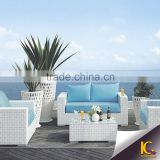 Latest Design High Quality Modern PE Plastic Rattan Patio Wicker Outdoor Furniture Chair Sofa