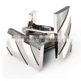 Mens Cuff Links Polished Finish Stainless Steel Luxury French Tuxedo Shirt Cufflinks for Men
