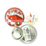 Round flashing tin button badge wtih safety pin                                                                         Quality Choice