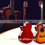 China factory spruce wood 40inch acoustic guitars