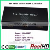 3D-Support coaxial cable to hdmi splitter 1 input 4 output