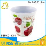 cheap plastic melamine round fruit cup