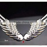 3D Chrome Metal Angel's Wings decoration Badge Emble Sliver Car Auto stickers