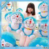 Cute Plush Soft Smile Flocked Doraemon Viking ovely doll toys for Stuffed Animal Funny Gift