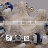 Vnistar glass beads and alloy beads zeta phi beta fancy jewelry bracelets greek sorority jewelry 2016 cheap wholesale