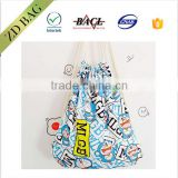 fashion style cotton wholesale hemp bag drawstring backpack bag