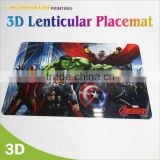 2015 waterproof Customized printed clear plastic placemat,pp placemat,placemat