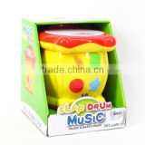 B/O Drum with light and music,Plastic Drum for Chilren,2 color,yellow and pink