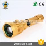 JF Zoomable LED Flashlight Adjustable Focus Zoom flash Light Lamp Torch AAA or 18650 wholesale