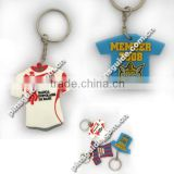 China Manufacturer Custom Soccer Clothes Shaped Soft Rubber Keychain Pendant For Souvenir Gift