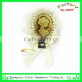 gold headband plastic gold flower wedding headband bear decoration hair accessory flower girls gold headband satin