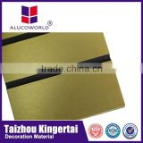 Hot sale Alucoworld good quality aluminum corrugated steel sheet exterior wall cheap wooden cladding