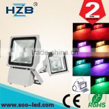 Outdoor Warranty Waterproof Power Super Bright Color Changing RGB Grey Black 50W LED Flood Light fixture