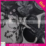 2014 New design high quality sequin lace fabric/ leather fabric for making bags
