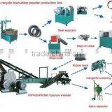 Full Automatic Waste Tyre Recycling Machine To Rubber Powder Production / Goworld recycled tires rubber powder factory price