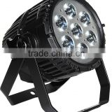Best selling die cast aluminum CE led par light 7x10w RGBW 4 in 1 mini outdoor Waterproof IP65 lamp led par can light