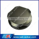Personality fuel tank engine oil filter cap