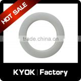 KYOK Chrome curtain pole rings with easy glide plastic inners,0.6mm metal curtain eyelet ring grommet for curtain accessories
