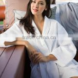 Hot selling kimono waffle weave bath robe wholesale pattern bathrobe with white jacquard                                                                         Quality Choice