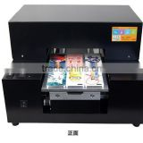 2015 newest A4 UV printer, cell phone case/plastic card/transparent business card printing machine, used uv flatbed printer