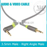 3.5mm Auxiliary Audio cable 90 Degree Right Angle Compatible for iPhone, iPad or Smartphones, Tablets, Media Players