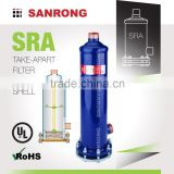 Sanrong SRA Refrigeration Take Apart Filter Drier Shell, STAS ADKS DCR Air Conditioning Replaceable Core Shell