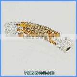 Wholesale Jewelry Findings & Component Bracelets Connector Bar Tube Beads Pave Crystal CTB-042