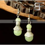 Western Style Fashion Jewelry Length 4.3cm Ethnic Alloy Green Beads Drop earrings for women