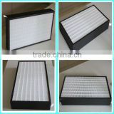 Air conditioner mini-pleat HEPA filter