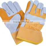 2016 leather gloves Construction Double Palm Leather gloves Brick factory work Gloves A grade