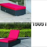 outdoor furniture double sun lounger bed beach sun bed plastic sun bed