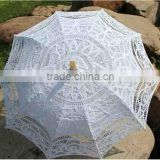 lace Material and craft lace umbrellas,Umbrellas Type craft lace umbrellas Antique battenburg lace wedding parasol and fan set