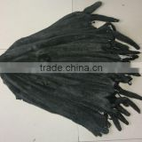 Factory Direct Selling Genuine Black Raw Mink Fur Skin For Vest And Coat