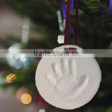 Baby handprint clay keepsake in air dry for gift