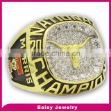 Cheap price factory direct custom gold plated 316l stainless steel devils championship ring