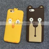 hot selling cute animal shaped silicone phone case for Iphone or Samsung