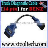 [XTOOL] OBD2 14 pin Mercedes Benz truck cable/connector,Truck diagnostic parts/accessory