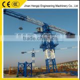 low price high quality hot sale jib length 48m,tip load 1.0t,max load 4 tons Flat top tower crane for sale