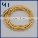 2016 HIGI New arrival Super Speed Gold 1M all in one data Usb cable for iphone 5 6 andriod
