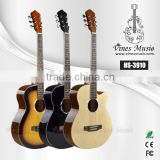 Supplier china 39 inch cutaway acoustic guitar HS-3910