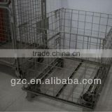 Warehouse Storage Logistic Steel Wire Cage with Pallet